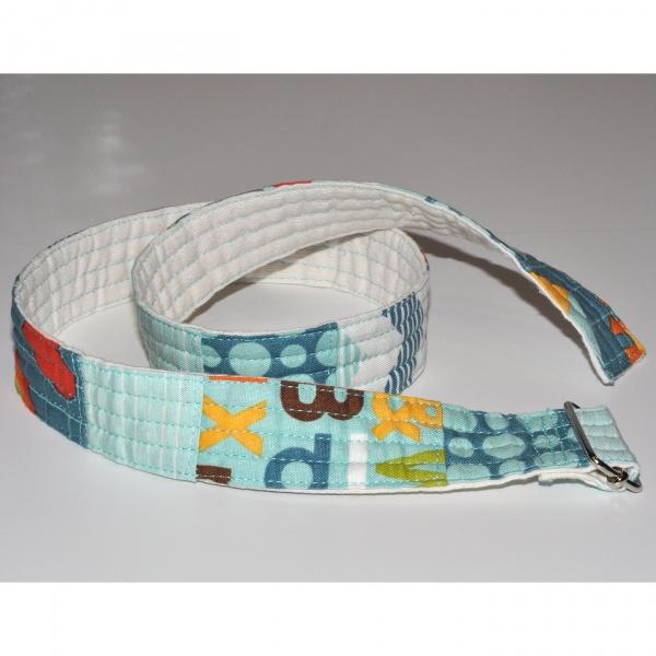 Cinturó patchwork blau