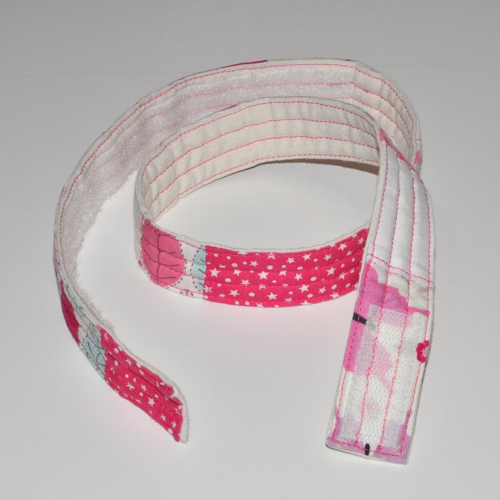 Cinturó infantil patchwork rosa