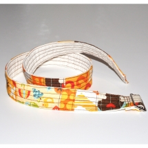 Cinturó infantil patchwork taronja