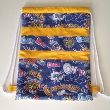 Bossa tela cordó còmic-groc