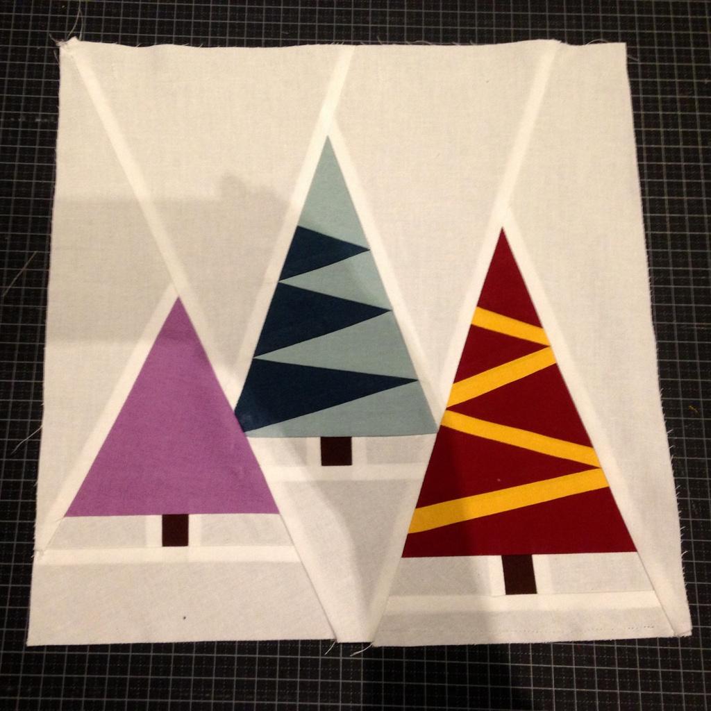 Paper piecing arbres Nadal