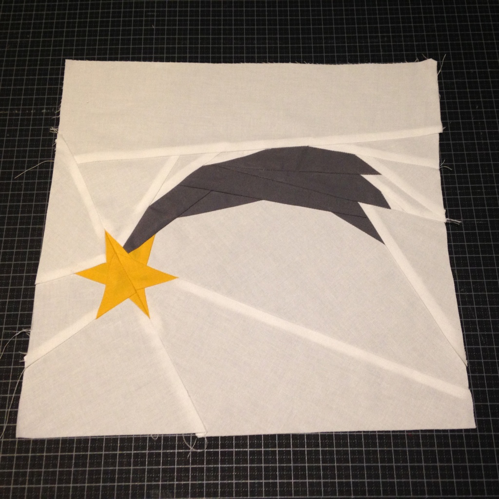 Paper piecing estrella Nadal