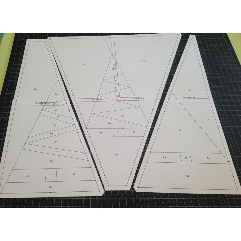 Patró paper piecing arbres Nadal