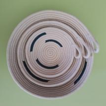 Canastro corda teal