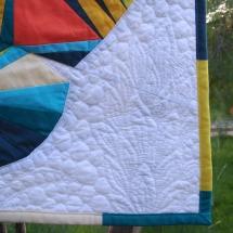 Papallona paper piecing Blau-Taronja