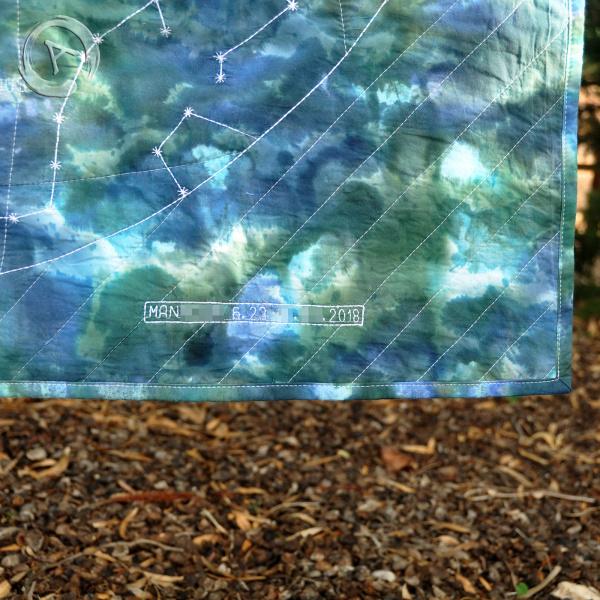 Constellations Quilt - Message