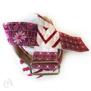 Cinturó Tela patchwork - Lila Blanc