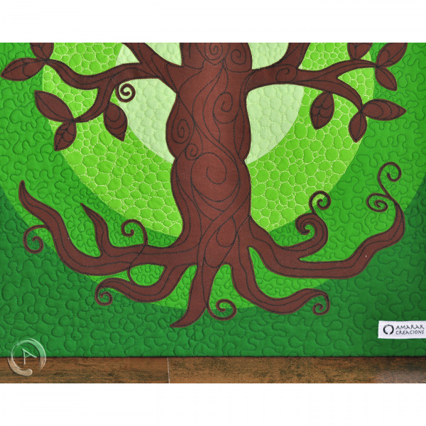 Quilt Art Tree of Life Green- Roots