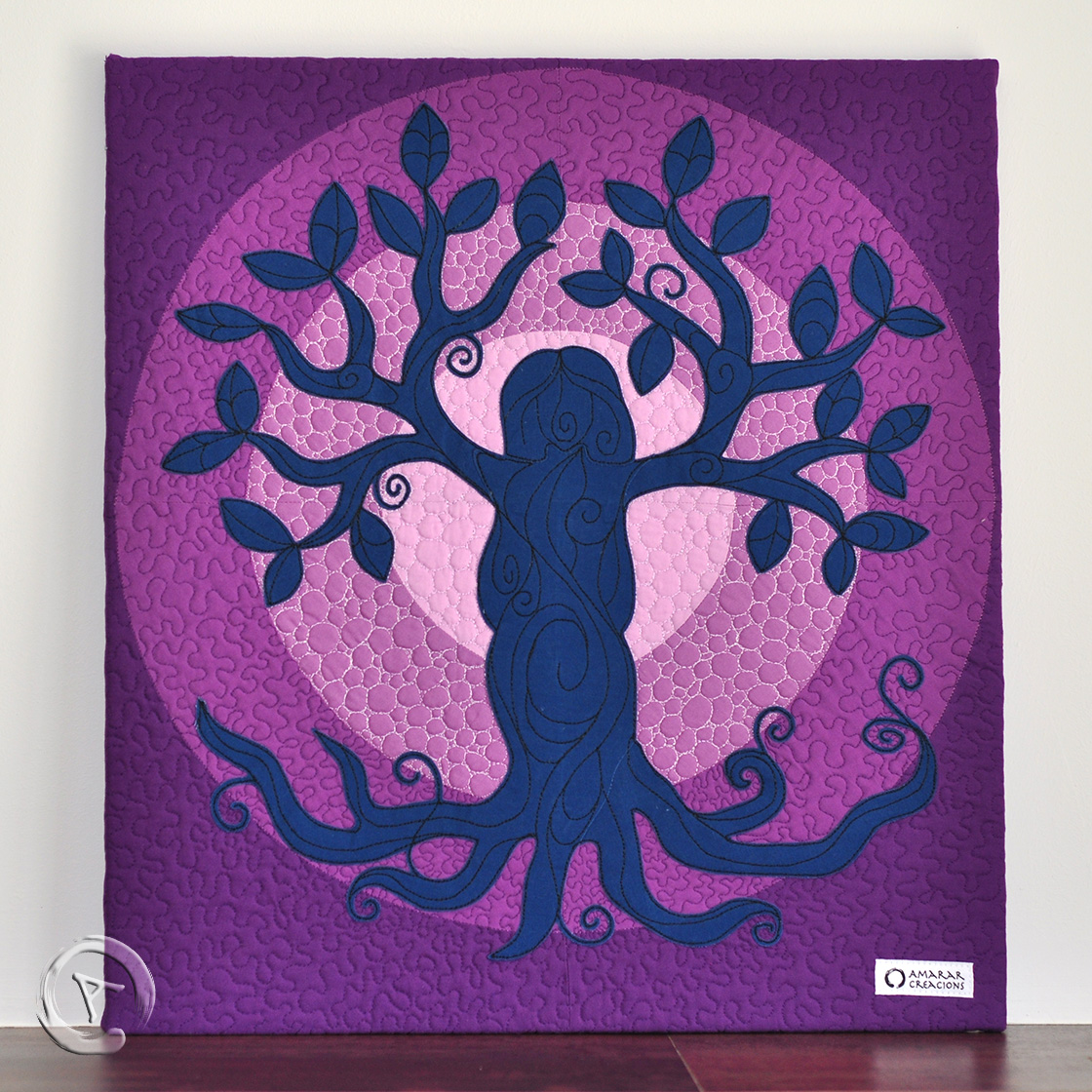 Quilt Art Tree of Life Lilac- General