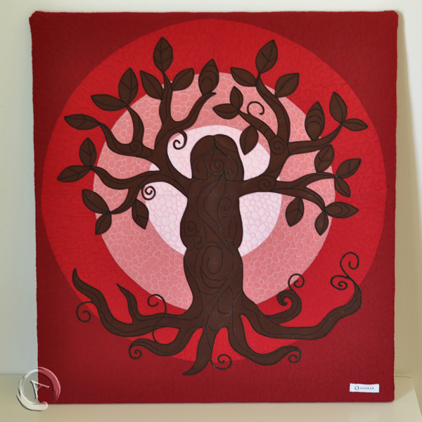 Quilt Art Tree of Life Red- General