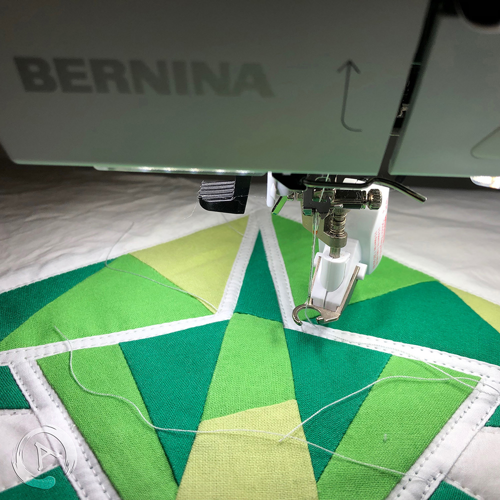 FPP Pattern - Origami Green Fish multic 16.5 FPP - Bernina 770