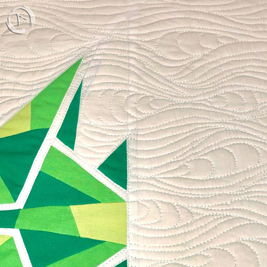 FPP Pattern - Origami Green Fish multic 16.5 FPP - Detail 2