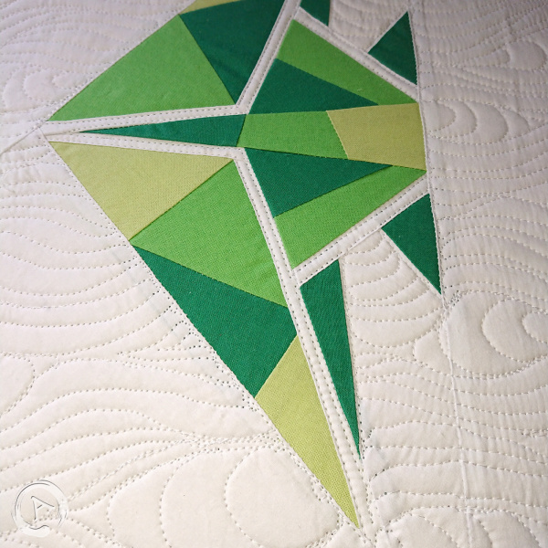 FPP Pattern - Origami Green Fish multic 16.5 FPP - Detail 3