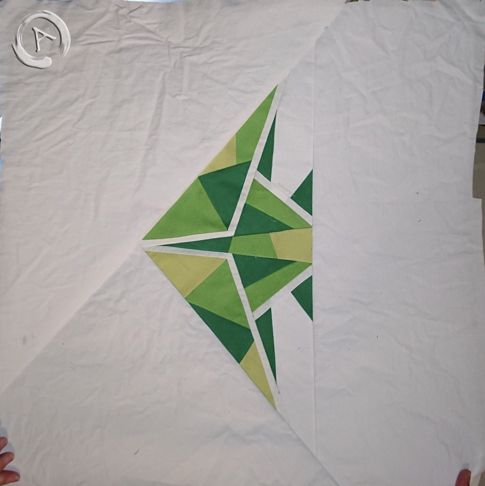 FPP Pattern -Origami Green Fish multic 16.5 FPP - General