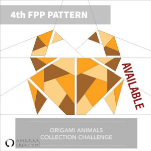Release Foundation Paper Piecing Pattern - Origami Anima - Crab