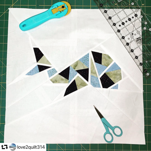 Whale foundation paper piecing pattern - Fatima