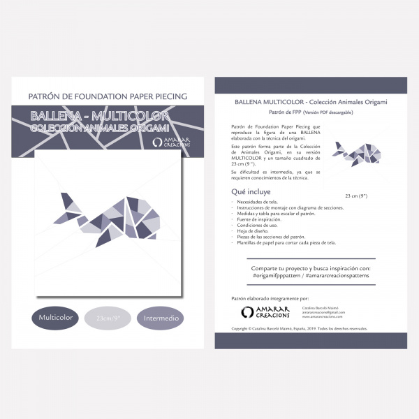 Portada-Foundation Paper Piecing-Balena-Multicoclor-9in-Castella