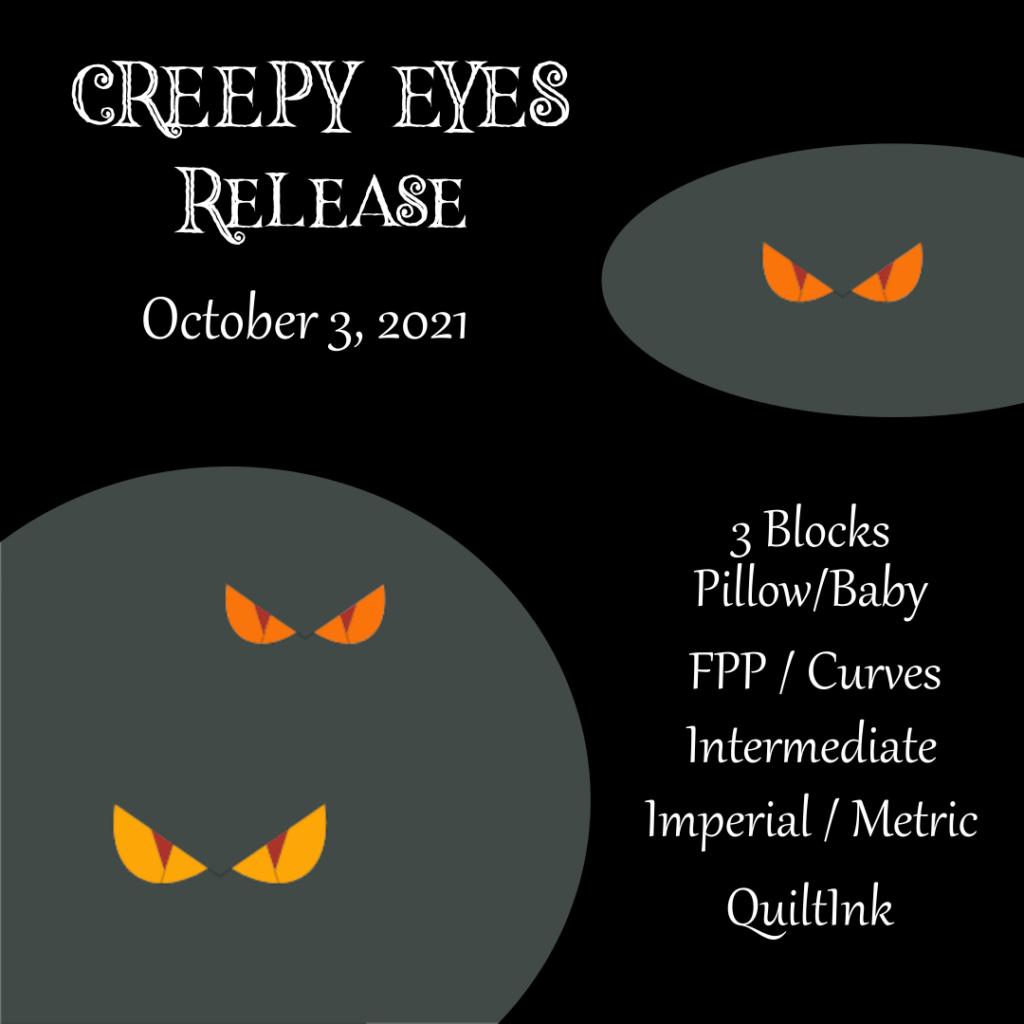 Pattern release - Creepy Eyes Quilt Pattern - Halloween